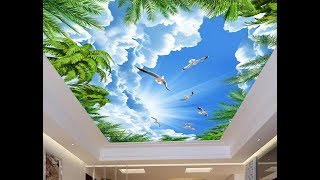 3D потолок небо природа