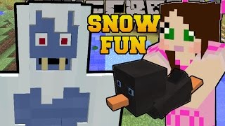 Minecraft: FUN IN THE SNOW! (SLEDS, PENGUINS, ICE BOMBS, & YETIS!) Custom Command