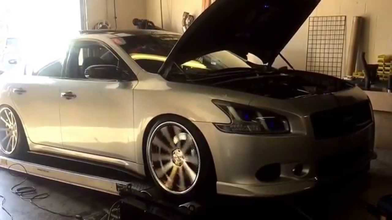 Custom Nissan Maxima >> 2010 Maxima 3.5 Uprev Tune Dyno Headlight Demo by Ghoztlighting - YouTube