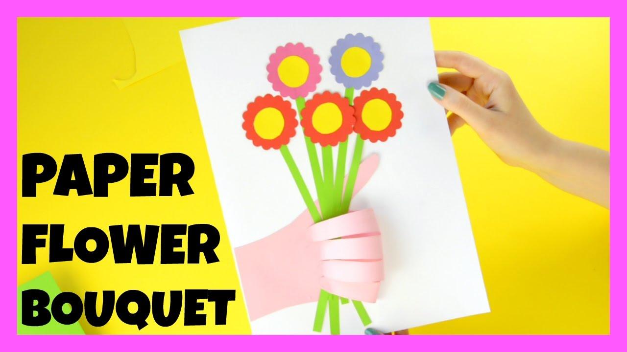 How to make paper flower bouquet paper craft idea youtube how to make paper flower bouquet paper craft idea izmirmasajfo
