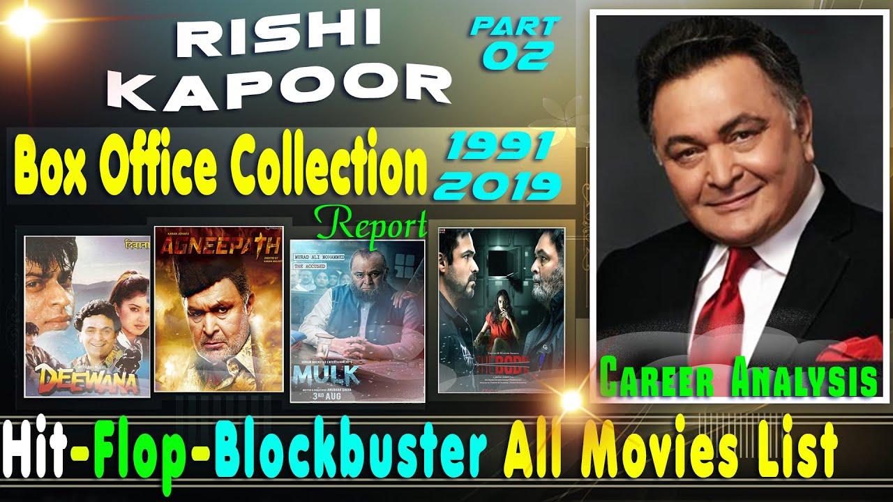 Rishi Kapoor Box Office Collection Analysis 1991-2019 Part ...