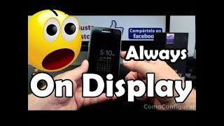 Cómo desactivar o Activar Always On Display del Samsung Galaxy S7 Consejos y Trucos