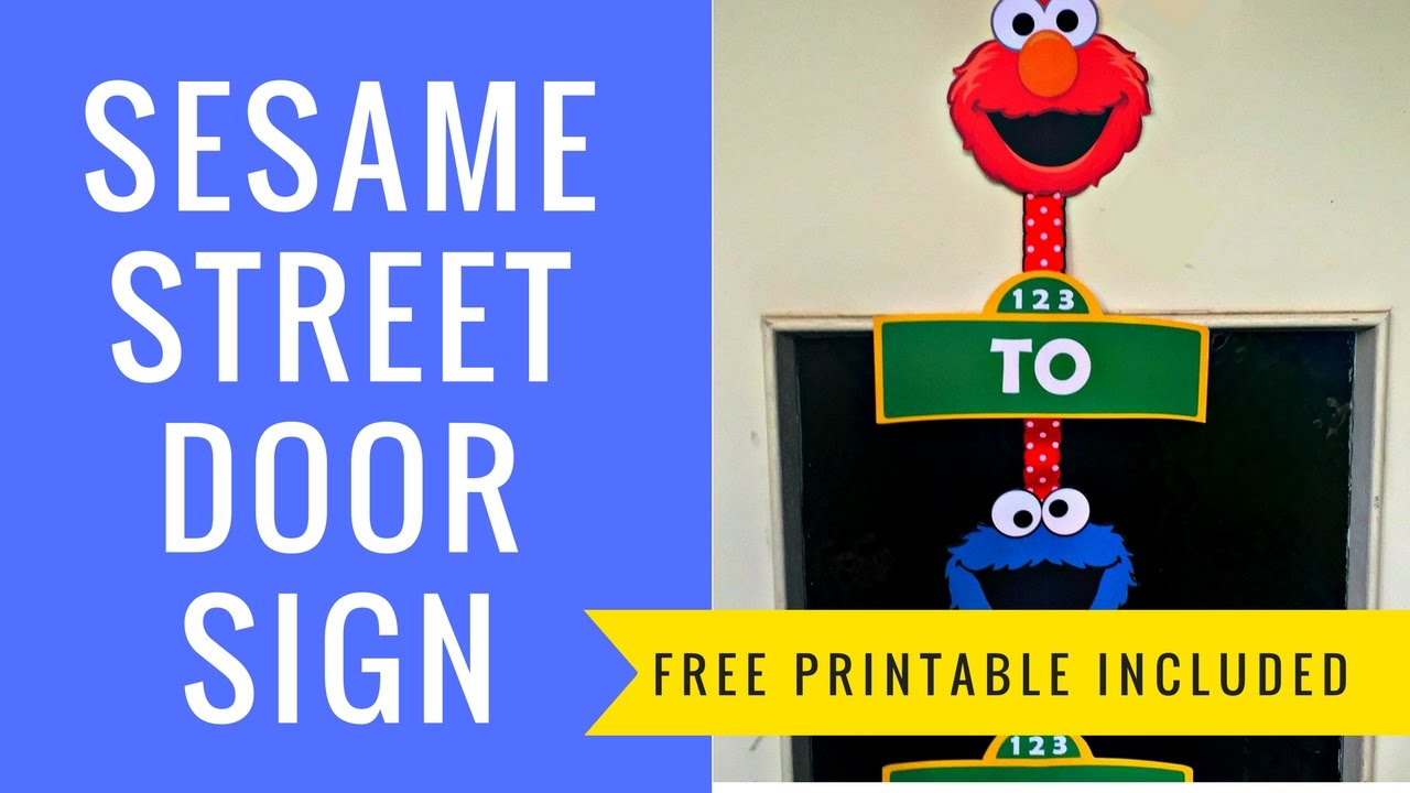 how to make a sesame street door sign with silhouette