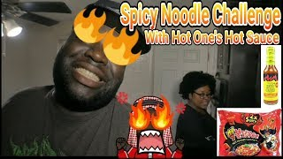 Spicy Noodle Challenge with Hot One's Hot Sauce