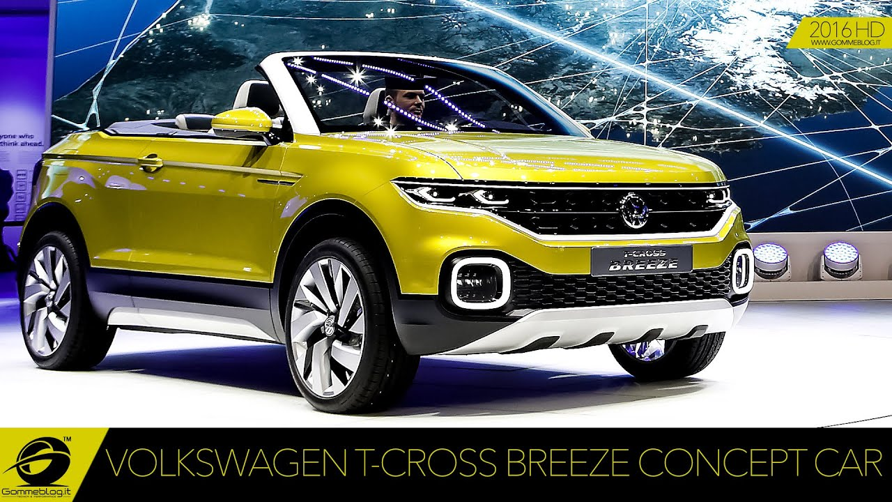 volkswagen t cross breeze concept car live premiere youtube. Black Bedroom Furniture Sets. Home Design Ideas