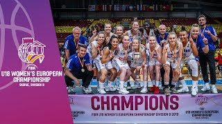 Finland v Greece - Final Full Game  - FIBA U18 Women's European Championship Division B 2019