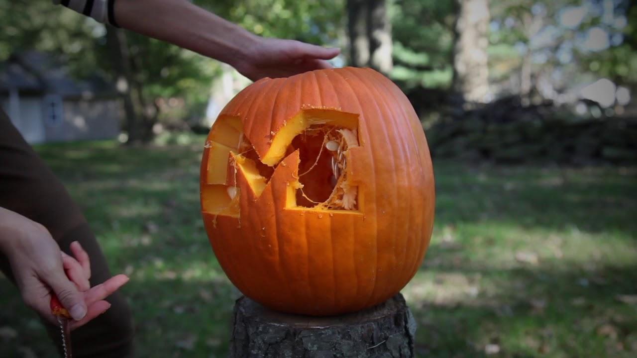 ohio state halloween: the michigan pumpkin smash - youtube