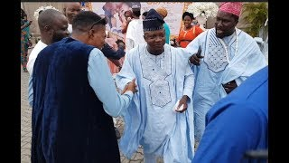 Sanyeri Afeez Owo storms out in Style as fans rush them at Abimbolaamp Okiki Wedding