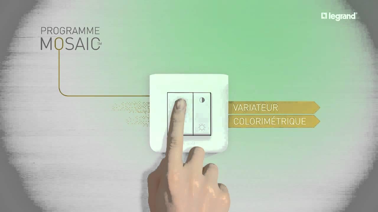 programme mosaic retracez la l gende de l appareillage tertiaire legrand youtube. Black Bedroom Furniture Sets. Home Design Ideas