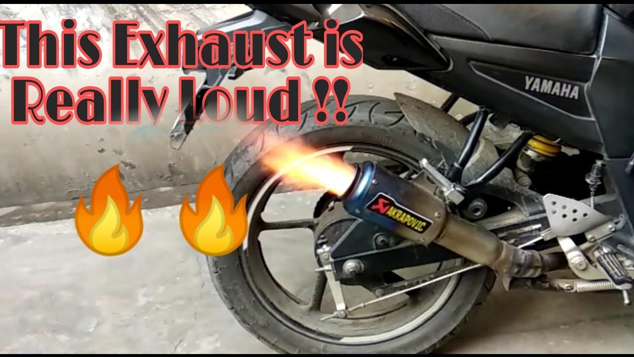 Loud Akrapovic Exhaust on Yamaha FZ