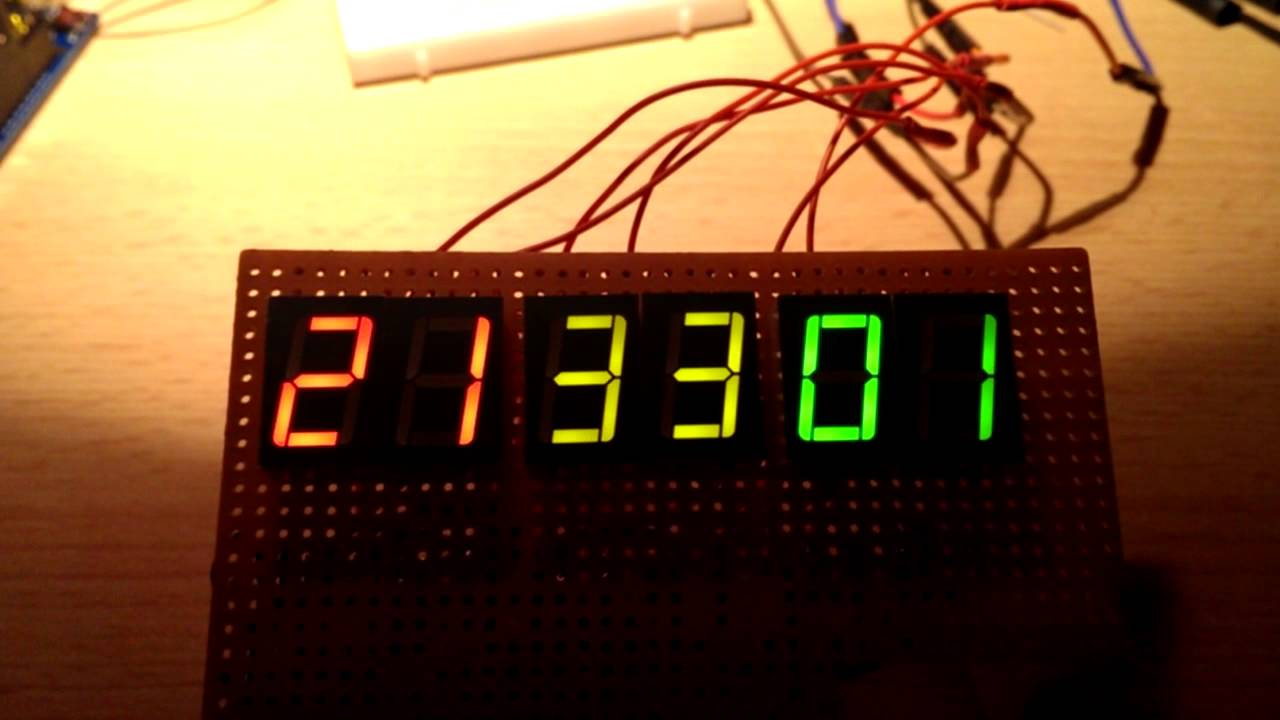 Segment display multiplexing arduino youtube