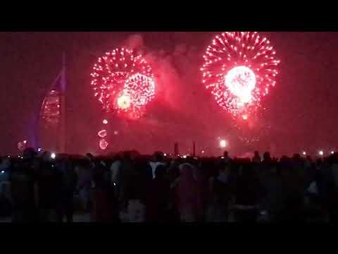 Happy new year 2019 burj Al Arab Dubai