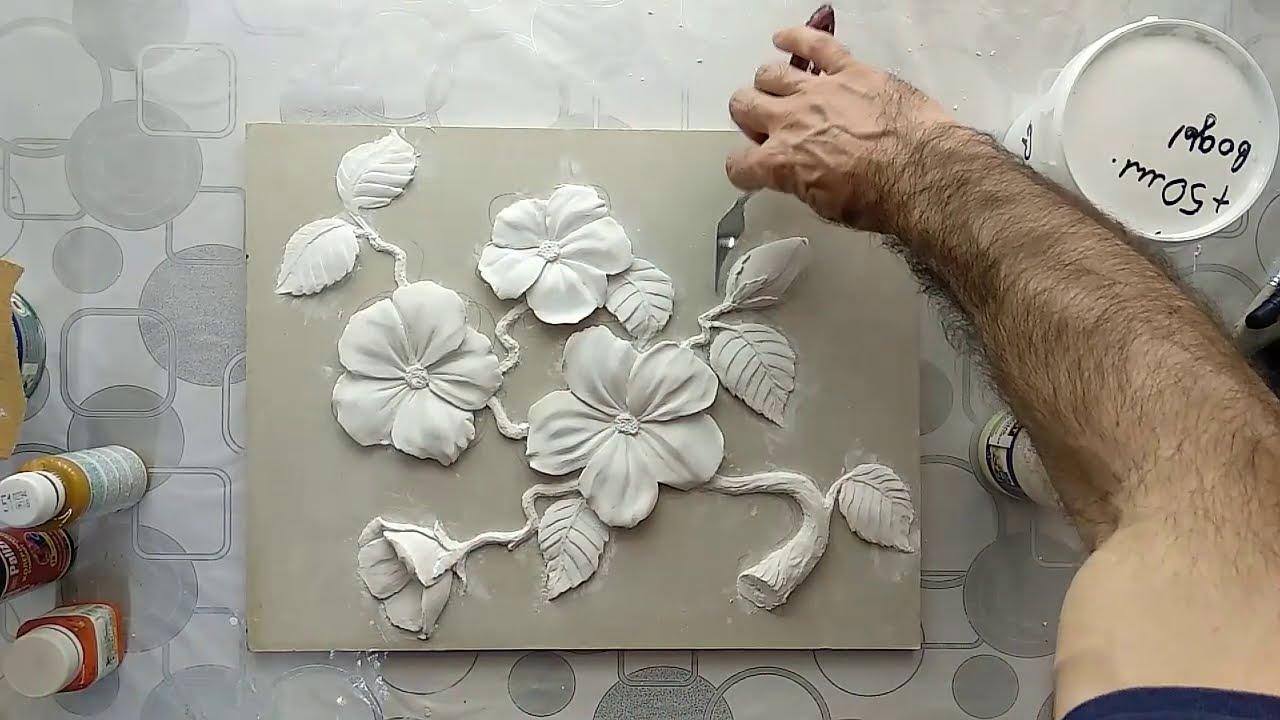 """Барельеф """"цветки сакуры"""" 3 урок"""