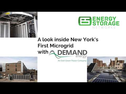A look inside New York's first solar plus storage microgrid
