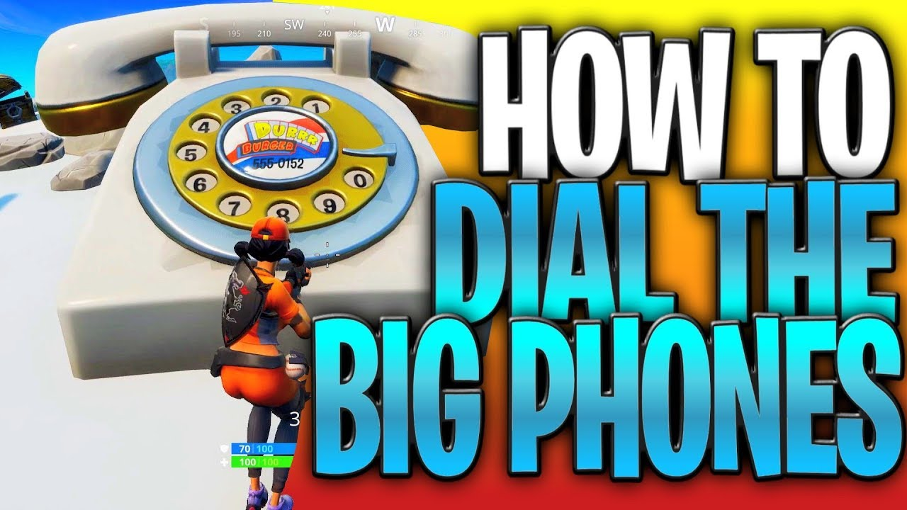How To Dial The Big Phones In Fortnite Durr Burger And Pizza Pit Big Phone Locations