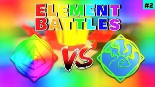Spectrum vs Aurora! | Roblox Elemental Battlegrounds Element Battles #2