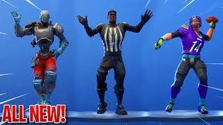 """NEW """"FOOTBALL"""" EMOTES/DANCES IN FORTNITE! - Leaked Skins & Emotes IN-GAME! (Fortnite Battle Royale)"""