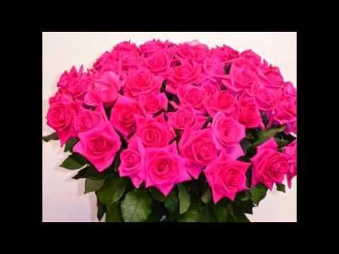 Пожелание с Днём рождения!Красивые цветы.