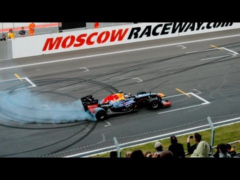 Moscow Raceway - 2013. David Coulthard on Renault F1.