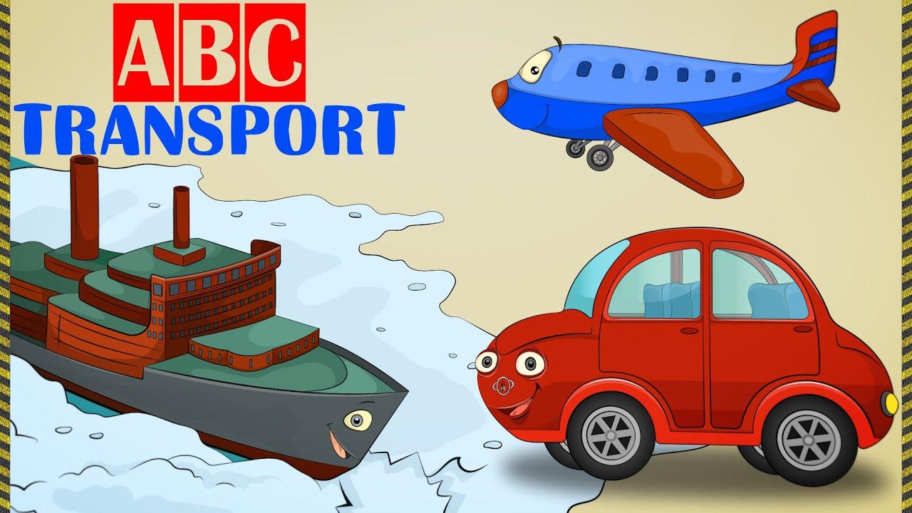 Transport Cartoon Learning ABC Online Kids Cars Trucks
