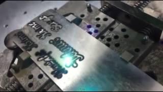 Blm Lazer Markalama - Gümüş İsim Kesimi