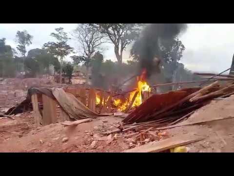 PF confirma destruição de equipamentos e túneis do garimpo clandestino em Aripuanã