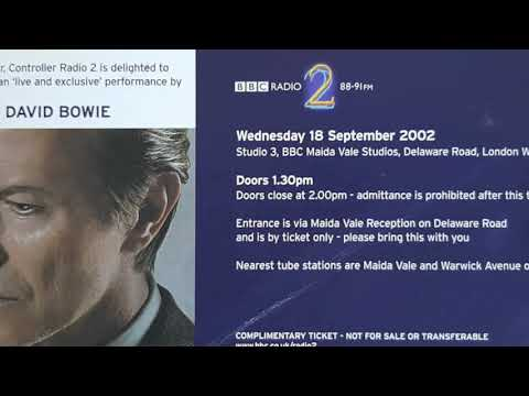 David Bowie, Rebel Rebel, Maida Vale, 18th September 2002
