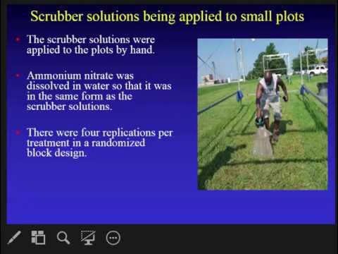 Fertilizer Value of Nitrogen Captured using Ammonia Scrubbers