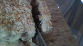 Vegan Carrot Cake With Tofutti Cream Cheese Icing.
