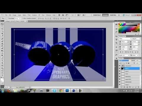 Blue Speed Art Cinema 4D & Photoshop