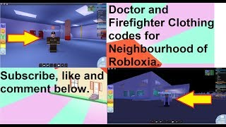 💉👨🔬Doctor And Firefighter👨🚒 Codes - Neighborhood of Robloxia (Roblox)