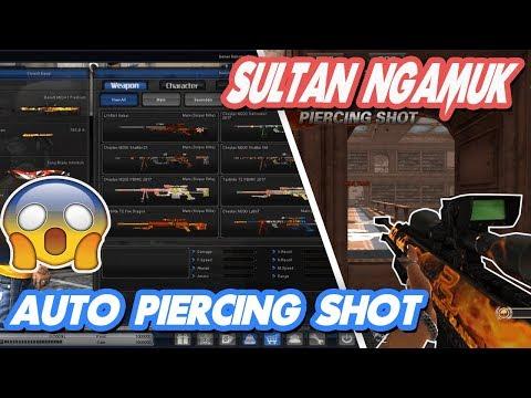 Sultan PB FULLCASH NGAMUK!! AUTO Piercing Shot GAN !! | Point Blank Offline 2018