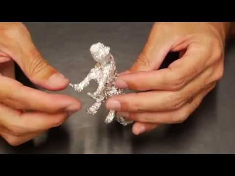Small Cheetah Sculpture Made With Foil