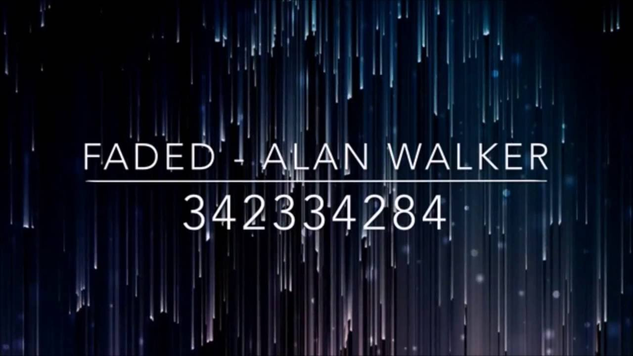Alan Walker Faded Roblox Id alan walker faded code for roblox id | free roblox avatar items