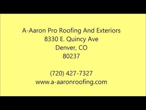 New Roof in Aurora, CO - 720-427-7327 - A-Aaron Pro Roofing And Exteriors