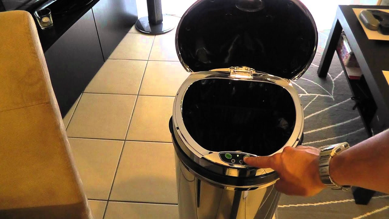 poubelle frandis sensor 45l automatique - youtube