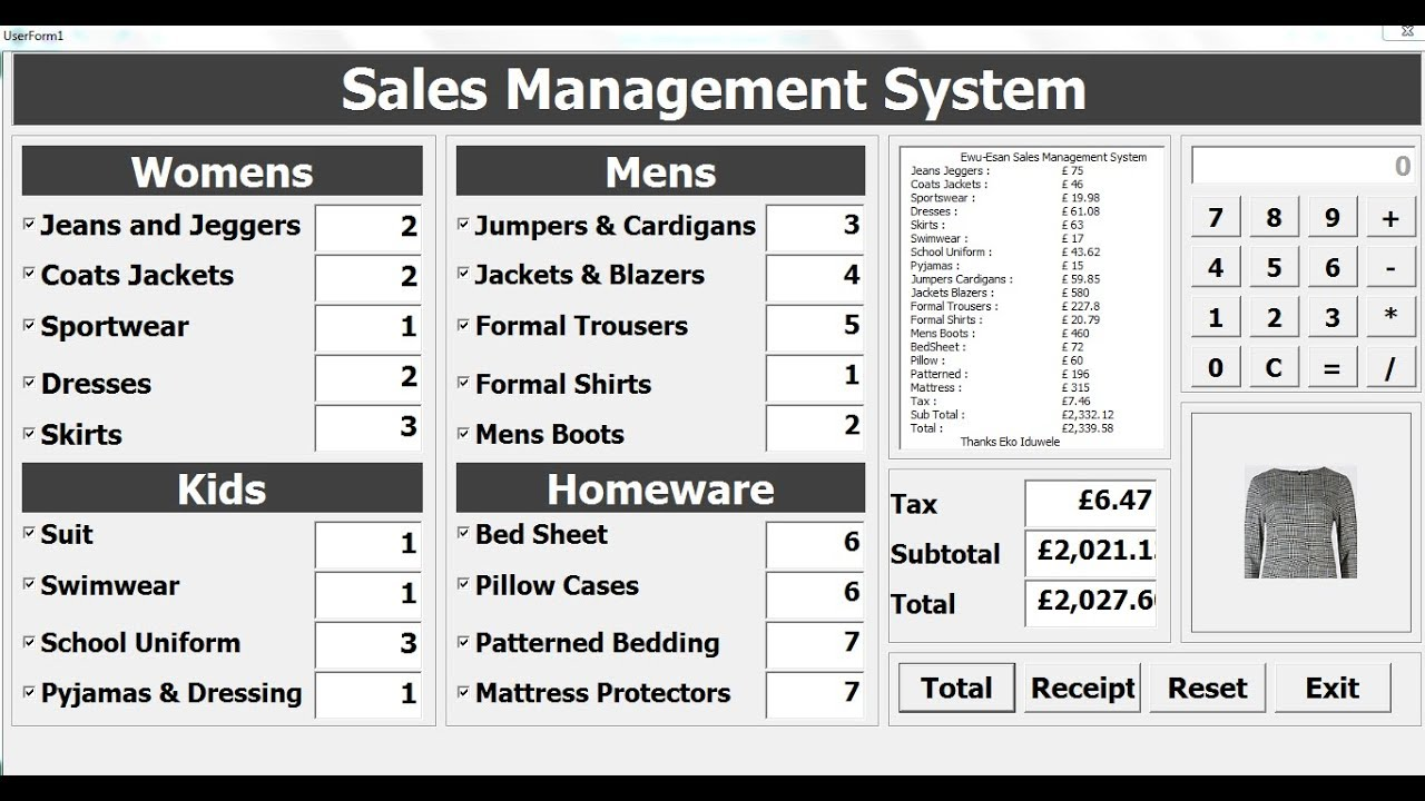 How to Create Sales Management System in Excel using VBA - Full