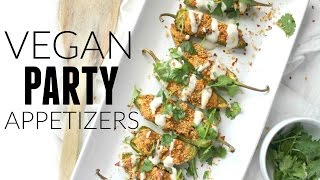 VEGAN PARTY APPETIZER RECIPES | JALAPENO POPPERS + CAPRESE SALAD | This Savory Vegan