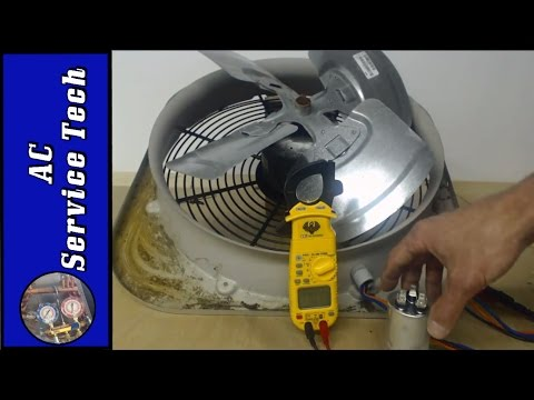 Outdoor HVAC Unit Fan Motor! Step by Step Troubleshooting, Capacitor, and Exact Resistance Readings!