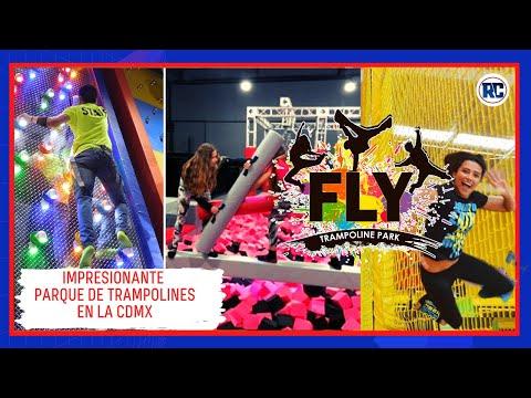 Así luce el NUEVO PARQUE DE TRAMPOLINES inaugurado en la CDMX | Fly Trampoline Park | 2021