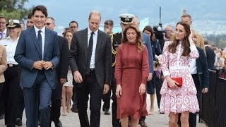 royals visit vancouver with justin and sophie gregoire trudeau