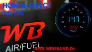 How to Select Fuel Type on APSX WIDEBAND D2 AFR GAUGE