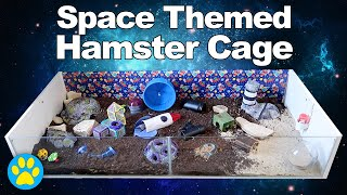 Space Themed Hamster Cage Tour