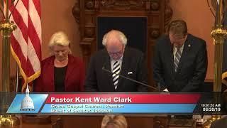 Sen. Johnson welcomes Pastor Clark to the Michigan Senate