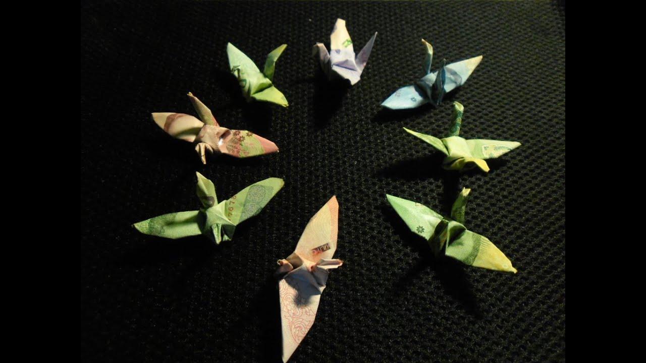 origami money bird youtube