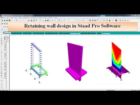 Retaining wall design in Staad Pro Software thumbnail