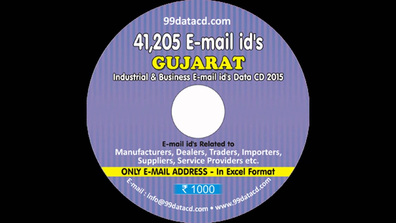 All India All Trade business Email id data CD
