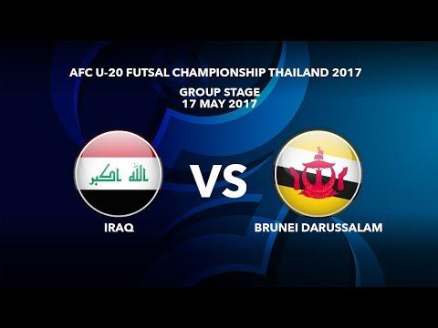 M16 IRAQ vs BRUNEI DARUSSALAM - AFC U-20 Futsal Championship Thailand 2017