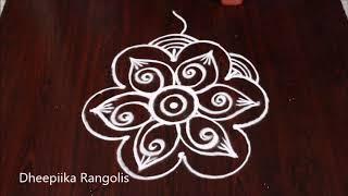 latest easy rangoli design for beginners * simple kolam designs * freehand muggulu for daily