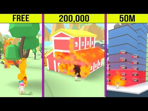 Roblox: BURNING DOWN 50,000,000 DOLLAR BUILDINGS!
